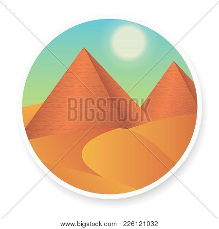 The Attractions Of Egypt, Wonders Of The World, Pyramid, Travel Vector Banner