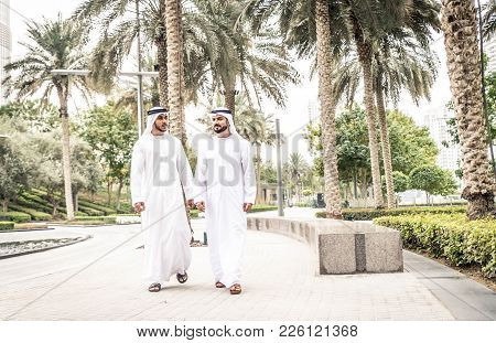 Arabian Men In The Emirates