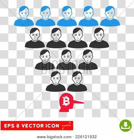 Bitcoin Ponzi Pyramid Manager Eps Vector Pictogram. Illustration Style Is Flat Iconic Symbol On Ches
