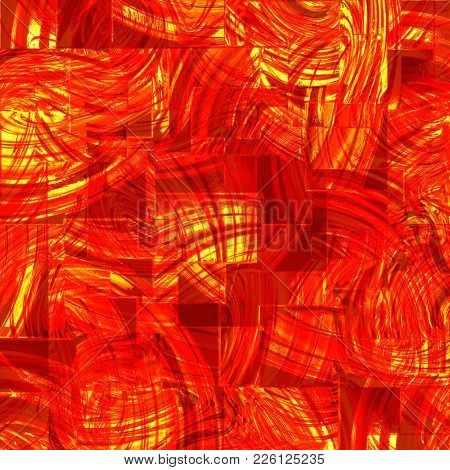 abstract background of red glass squares