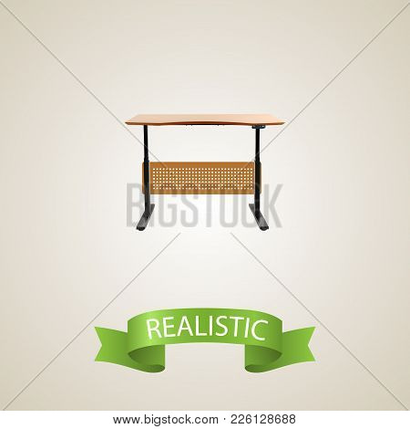 Desk Realistic Element. Vector Illustration Of Desk Realistic Isolated On Clean Background For Your