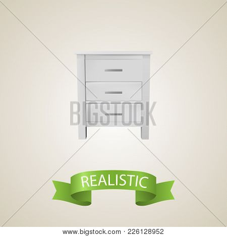 Closet Realistic Element. Vector Illustration Of Closet Realistic Isolated On Clean Background For Y