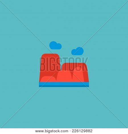 Canyon Icon Flat Element. Vector Illustration Of Canyon Icon Flat Isolated On Clean Background For Y
