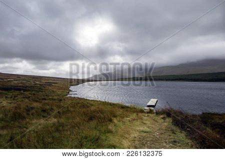 A Broken Jetty On Lough Craig In Donegal,ireland.