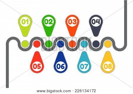 Vector Illustration Of Business Road Infographic Concept