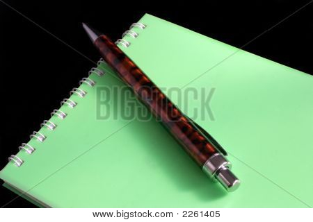 Ball-Point Pen With A Notebook