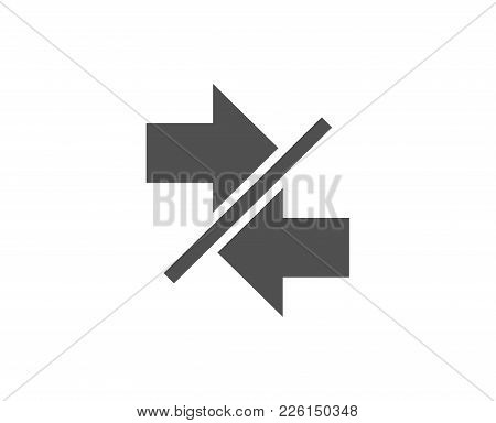 Synchronize Arrows Simple Icon. Communication Arrowheads Symbol. Navigation Pointer Sign. Quality De