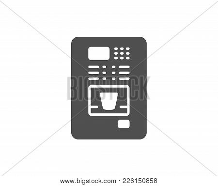 Coffee Vending Machine Simple Icon. Hot Drink Sign. Fresh Beverage Symbol. Quality Design Elements.