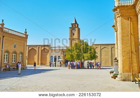 Isfahan, Iran - October 20,2017: The Cathedral Of Holy Savior Is One Of The Most Famous Landmarks Of