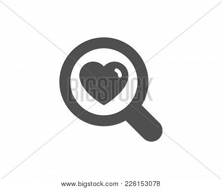 Love Dating Simple Icon. Search Relationships Sign. Valentines Day Symbol. Quality Design Elements.
