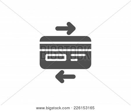 Credit Card Simple Icon. Bank Payment Method Sign. Online Shopping Symbol. Quality Design Elements.