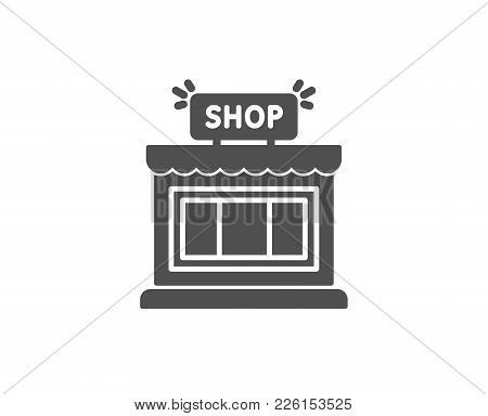 Shop Simple Icon. Store Symbol. Shopping Building Sign. Quality Design Elements. Classic Style. Vect