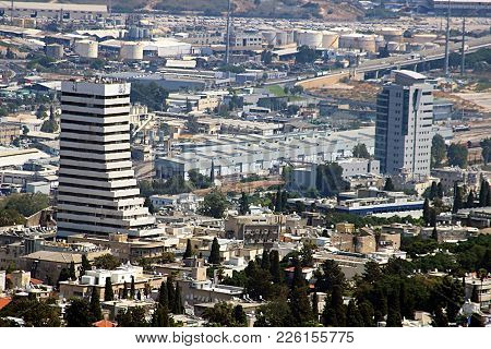 View Of Haifa Downtown, Israel, Middle East