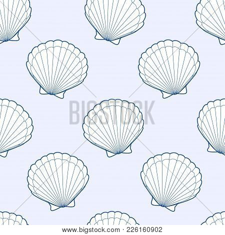 Cute Kids Shell Pattern For Girls And Boys. Colorful Shell On The Abstract Pattern Create A Fun Cart