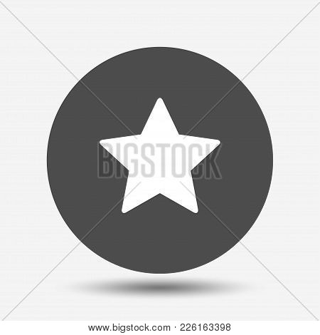 Star. Symbol Of Decoration, Award, Quality, Rating. Isolated Vector Icon, Sign, Emblem, Pictogram. F