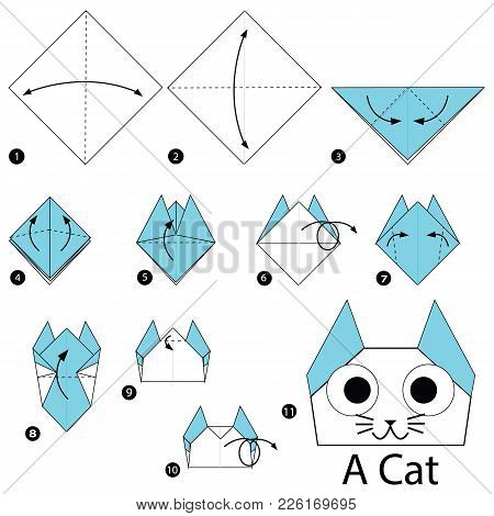 Step By Step Instructions How To Make Origami A Cat