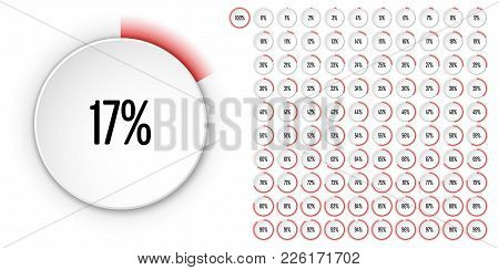 Set Of Circle Percentage Diagrams From 0 To 100 Ready-to-use For Web Design, User Interface (ui) Or