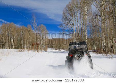 Winter In Manco State Park In Colorado