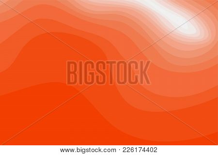 Abstract Orange And White Topographic Contours Lines Of Mountains. Topography Map Art Curve Line Dra