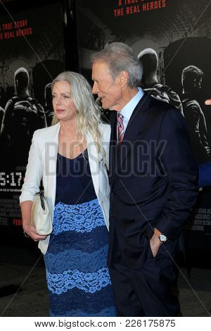 LOS ANGELES - FEB 5:  Christina Sandera, Clint Eastwood at the