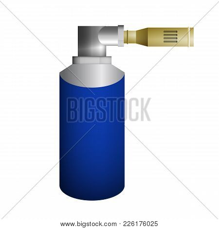 Blue Burner Vector Illustration. Conservation Of Compressed Methane.