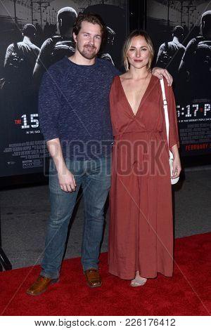 LOS ANGELES - FEB 5:  Josh Kelly, Brianna Evigan at the