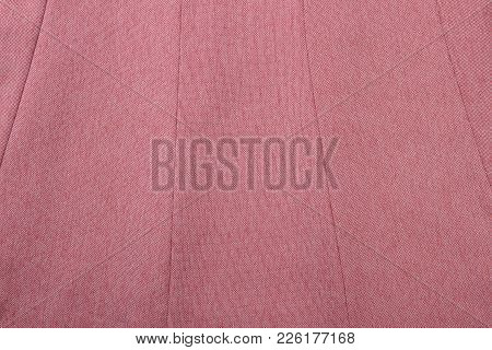 Pink Textured Cloth Background. Detail Of Women Classy Skirt.
