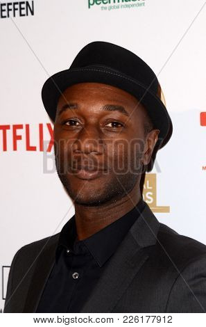 LOS ANGELES - FEB 8:  Aloe Blacc at the Guild of Music Supervisors Awards at The Theatre at Ace Hotel on February 8, 2018 in Los Angeles, CA