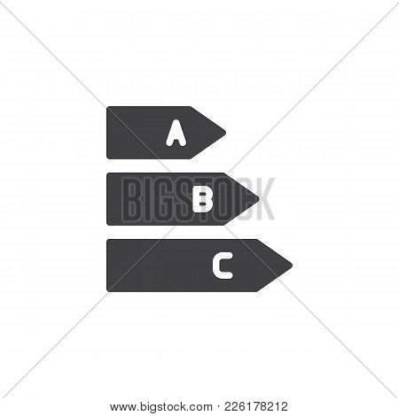 Energy Class Icon Vector, Filled Flat Sign, Solid Pictogram Isolated On White. Energy Efficiency Sym