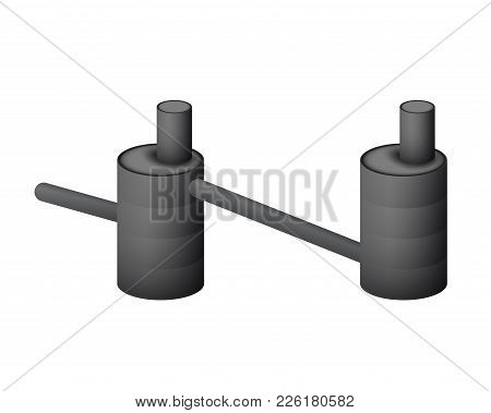 Two Underground Septic Tank Vector Illustration. A Collector For The Sewers On A White Background.
