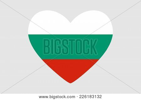 Heart Of The Colors Of The Flag Of Bulgaria, Vector