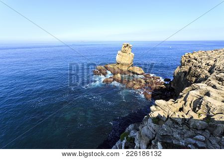 Lying On The Atlantic Coast Is Cape Carvoeiro Opposite To The Berlengas Archipelago, Seen Here On Th