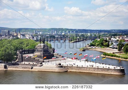 Koblenz City Germany With Historic German Corner Where Rhine And Moselle Flow Together 3