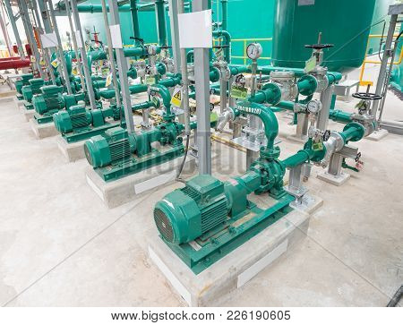 Powerful Electric Motors For Modern Industrial Equipment At Factory