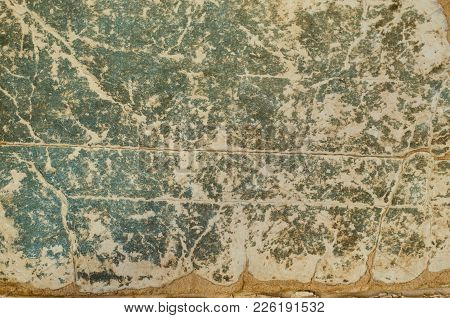 Very Old Rough Paper Covered With Cracks