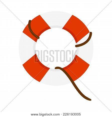 Emergency Lifesaver Buoy Vector Illustration Graphic Design