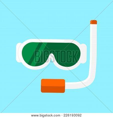 Stylish Snorkel Equipment Vector Illustration Graphic Design