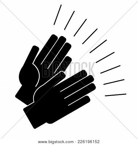 Clapping Hands On A White Background. Vector Illustration
