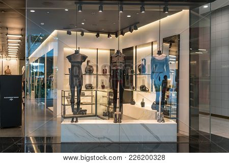 Alexander Wang Shop At Emquatier, Bangkok, Thailand, Nov 3, 2017 : Luxury And Fashionable Brand Wind