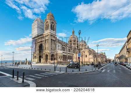 Marseille, France - December 4, 2016: Cathedral De La Major - One Of The Main Church And Local Landm