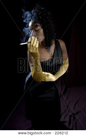 diva smoking (focus on gloves) poster
