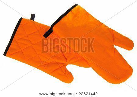 Orange Tacks For Kitchen Isolated On White