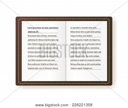 Page Of The Book Vector Illustration. The Reading Of A Person With Dyslexia. Handwriting With Letter