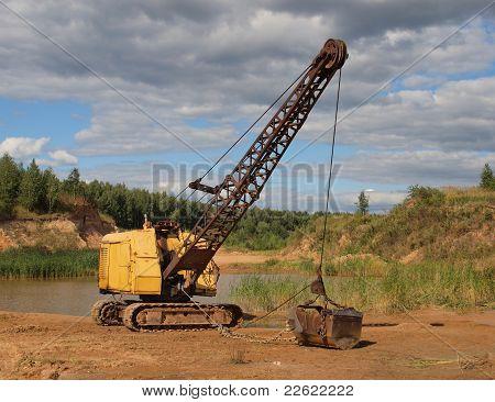 Old Yellow Excavator.
