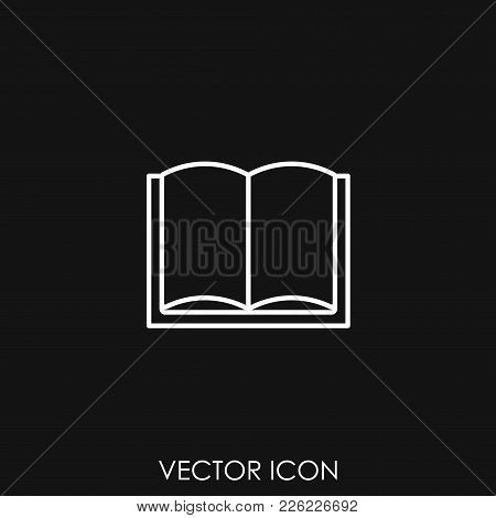 Book Icon. Sign Design, Vector Icon Illustration, Icon Image