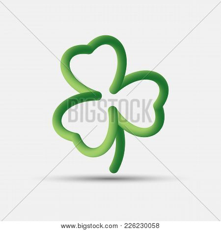 Irish Three Leaf Blended Interlaced Creative Lucky Clover Icon