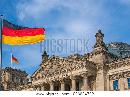 Reichstag German Houses Of Parliament In Berlin Germany
