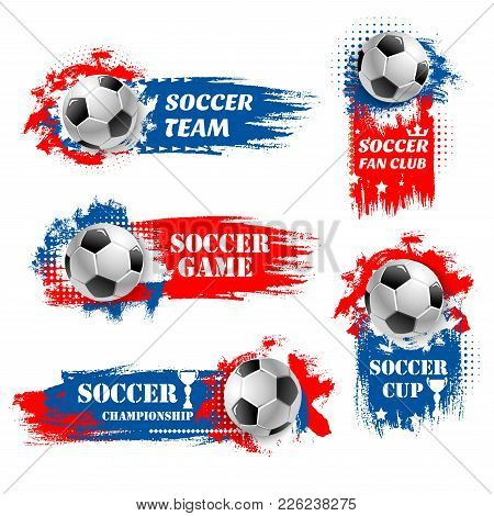 Soccer Game Tournament Backdrops For Football Championship Or Fan Club And Sports League Team Icons