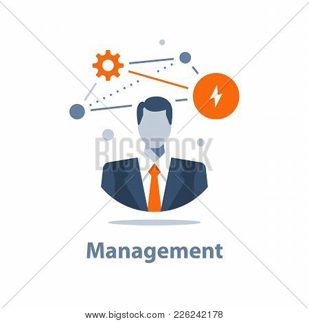 Business management, successful strategy, career opportunity, ambition and motivation, project manager, company ceo, corporate solution concept, analytics and consulting poster
