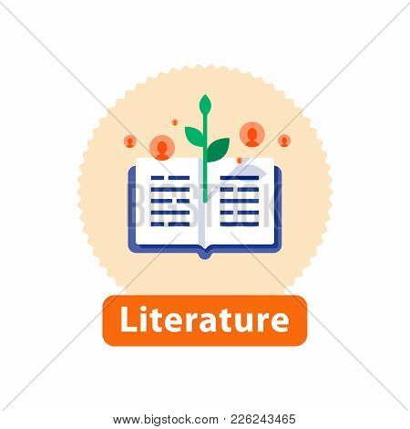 Literature Reading, Open Book, Storytelling Concept, Bookstore Best Seller, School Education, Public